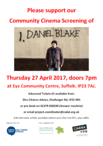 I Daniel Blake Eye Community Screening Citizens Advice