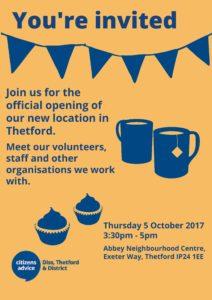 Thetford opening 5 October 2017